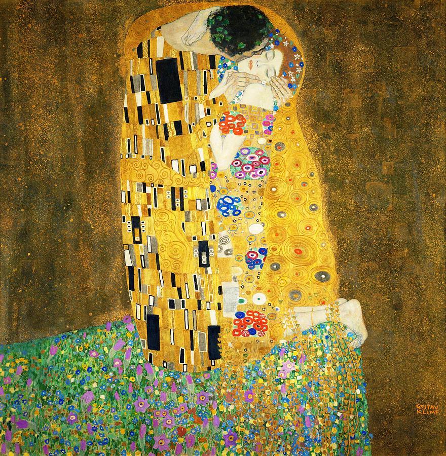Gustav Klimt The Kiss Art Nouveau Jugendstil Gold