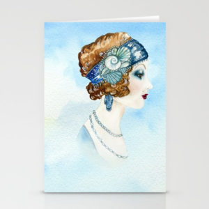 art-deco-portrait-cards