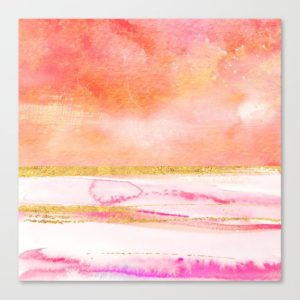 coral-gold-and-pink-abstract-watercolor-art-canvas