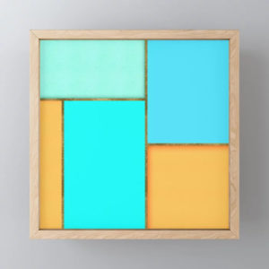 light-blue-orange-and-gold-abstract-art-framed-mini-art-prints