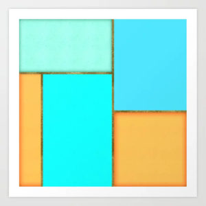 light-blue-orange-and-gold-abstract-art-prints