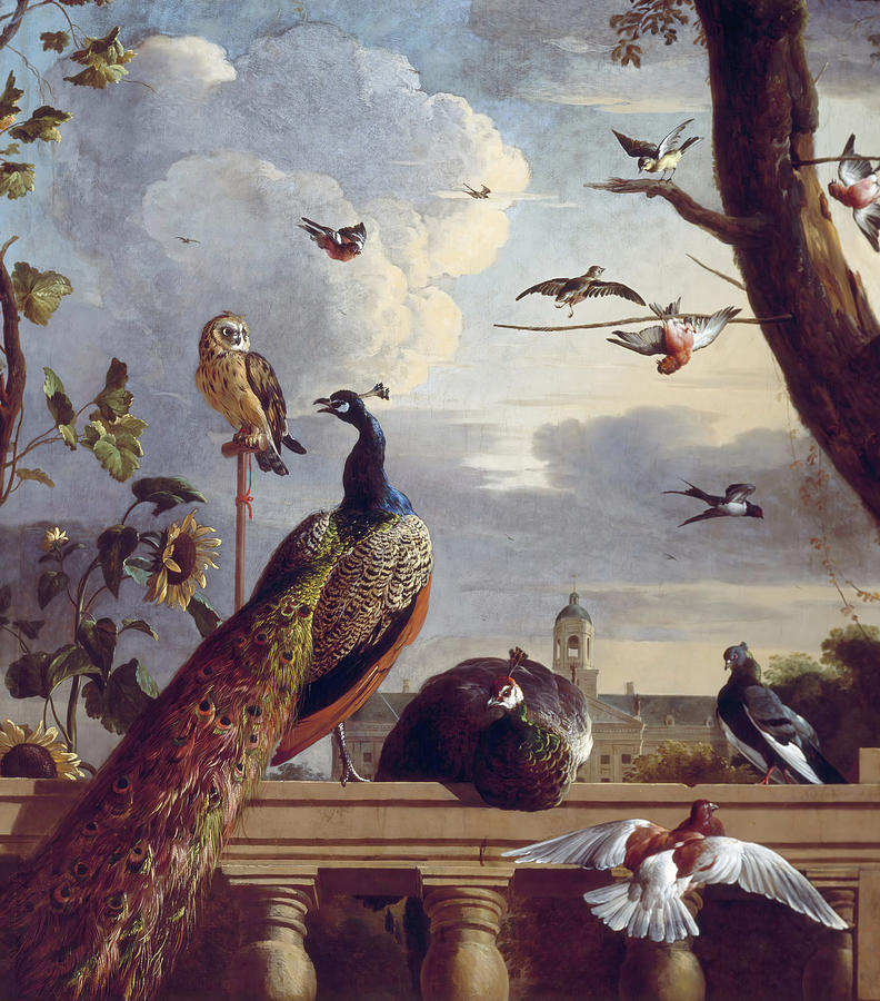 Melchior De Hondecoeter Palace Of Amsterdam With Exotic Birds