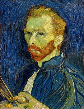 Vincent Van Gogh Self Portrait With Palette