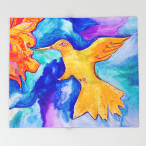 sunbird-throw-blanket