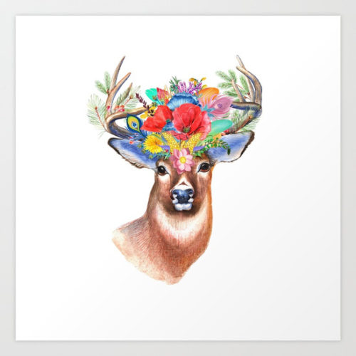 watercolor-fairytale-stag-with-crown-of-flowers327810-prints